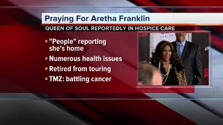 Aretha Franklin is in hospice care at her home, CNN reports
