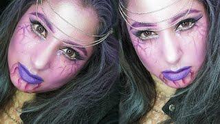 female boogeyman halloween makeup tutorial