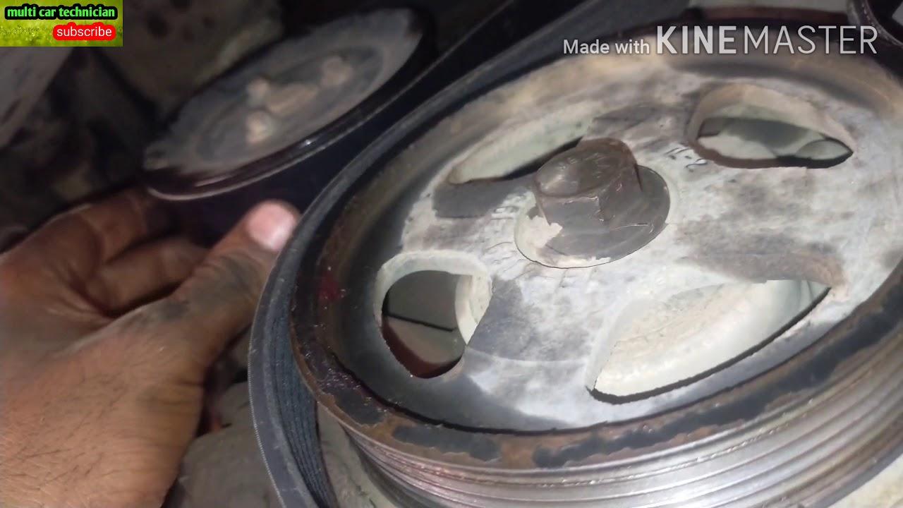 Ford Ikon Water Pump Belt Change Youtube