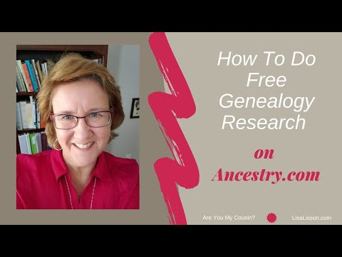 How To Do Free Genealogy Research On Ancestry.com