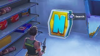 "Search the letter ""N"" Under a Frozen Lake - Fortnite Battle Royale"