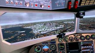 FSX Graphic Run: Snowy Landing (REX, GEX, German Airports, FaceTrackNoIR) + C177D FREEWARE