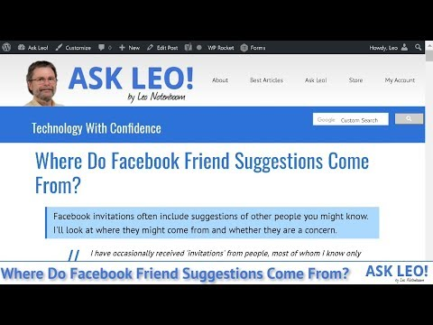 Where Do Facebook Friend Suggestions Come From? - Ask Leo!