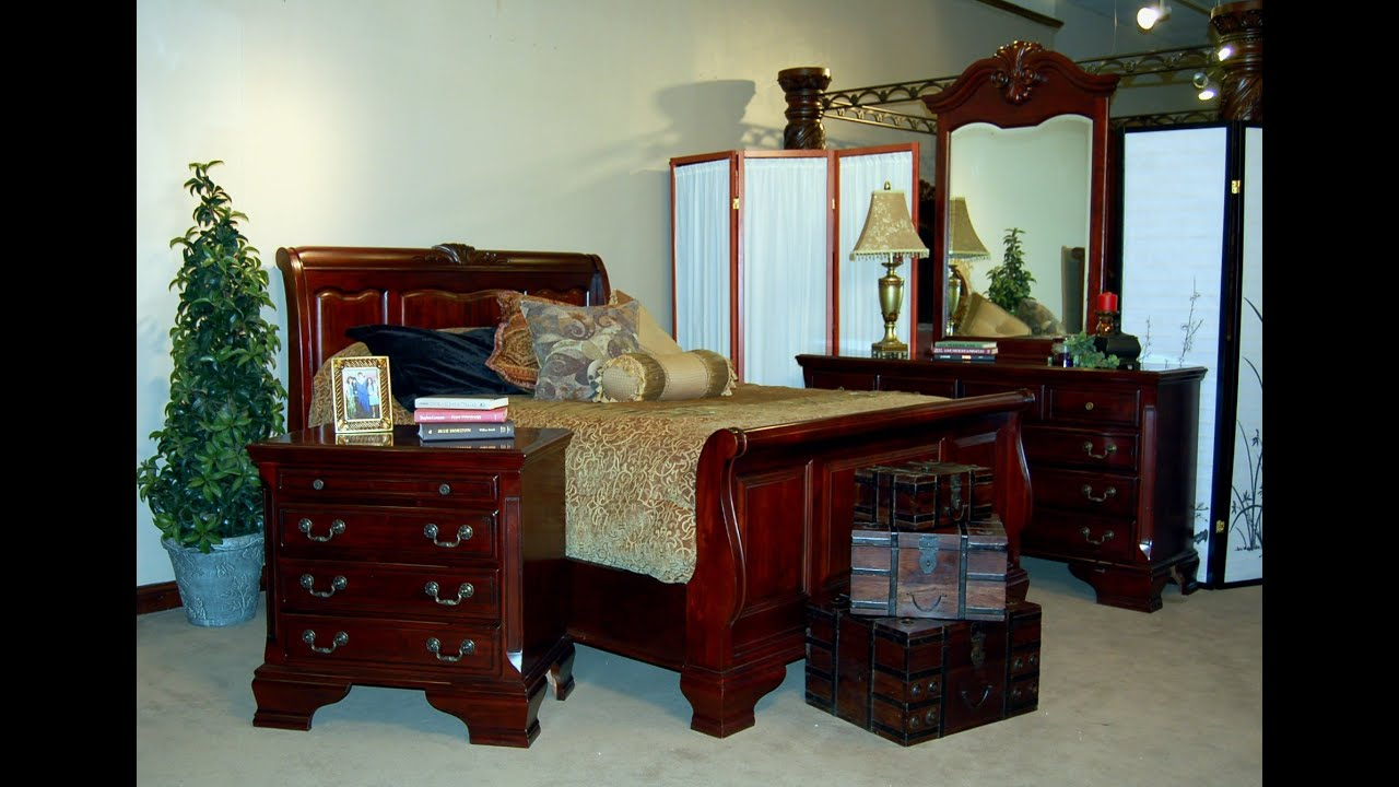 Mahogany Bedroom Furniture | Antique Solid Mahogany Bedroom Furniture    YouTube