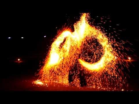 Sparkle Poi 2 *** fire show at EJC 2012