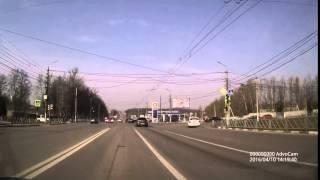 ДТП на ул. Октябрьской г.Тулы 10 апреля 2016