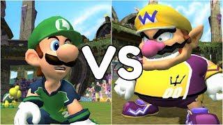 Super Mario Strikers - Luigi vs Wario - GameCube Gameplay (720p60fps)