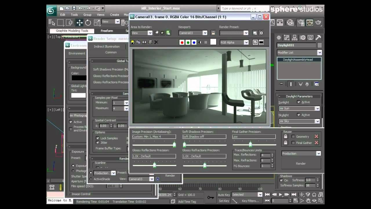 Learn autodesk 3ds max chapter 13 mental ray interior - Autodesk 3ds max interior design ...