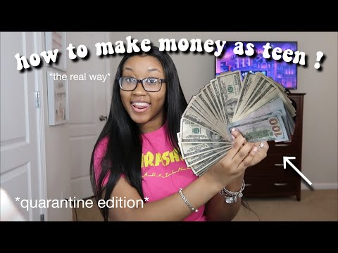 REAL ways to make FAST & EASY money as a teenager | * quarantine edition* (link in description)