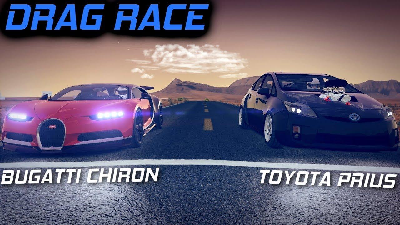 Prius On Steroids >> Bugatti Chiron Bugatti Vision Gt Vs 1500hp Toyota Prius Drag Race
