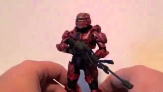 Halo 4 Red Spartan Warrior Toy Figure Review
