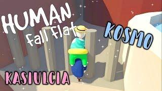 """""""Zaklinowaliśmy się w płocie xD"""" HUMAN: Fall Flat z KOSmo❤ #9"""
