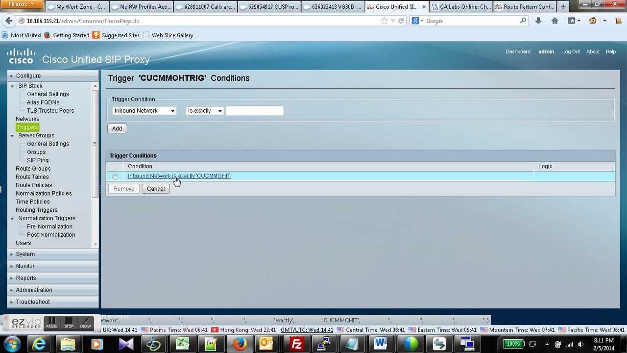Cisco CUSP Configuration