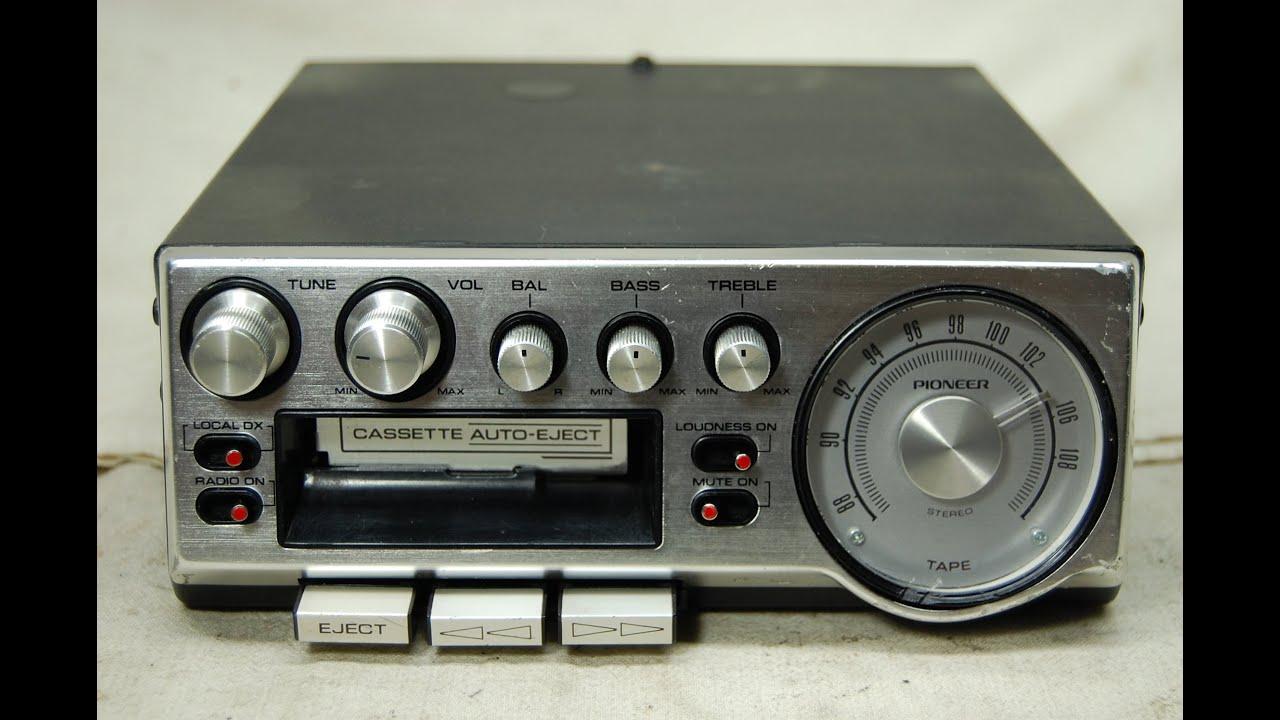 vintage pioneer kp 500 fm cassette car stereo 8 youtube rh youtube com