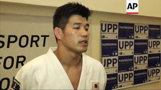 Japan's judo coach trains with favela children