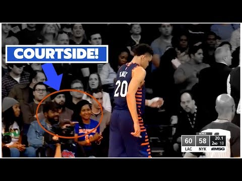 HOLY SH*T! We Sat COURTSIDE At Madison Square Garden!