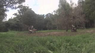 Motorbikes in Mud-Go Pro