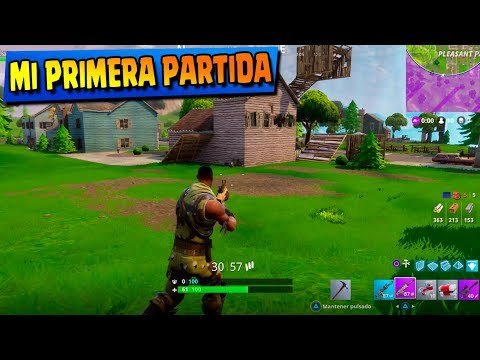JUEGO FORTNITE EN PS4 POR PRIMERA VEZ!! BATTLE ROYALE