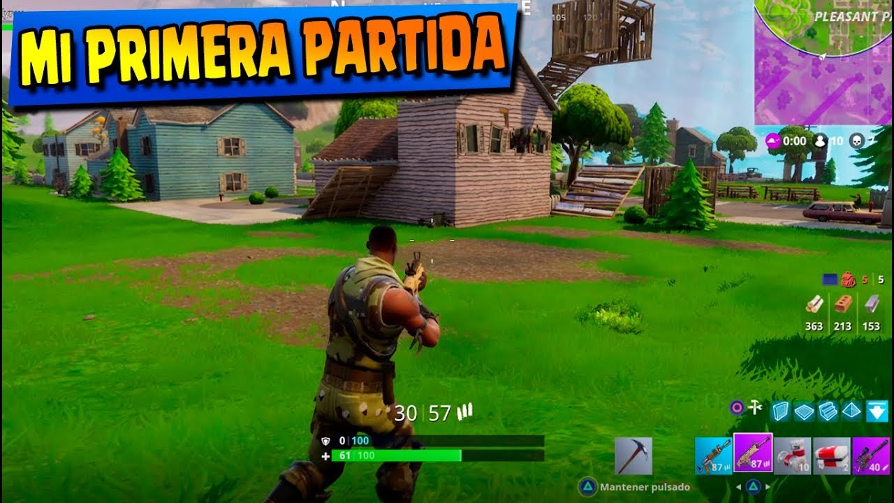 Juego Fortnite En Ps4 Por Primera Vez Battle Royale Youtube