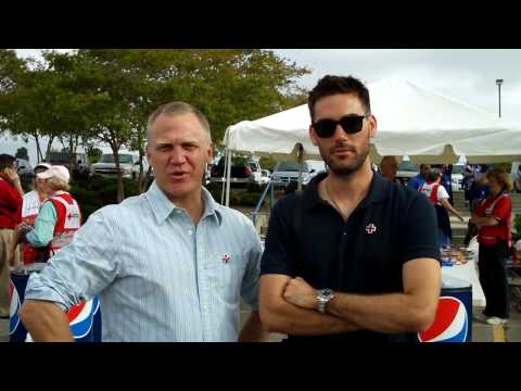 Drew Fuller and Terry Serpico Volunteer for the Red Cross