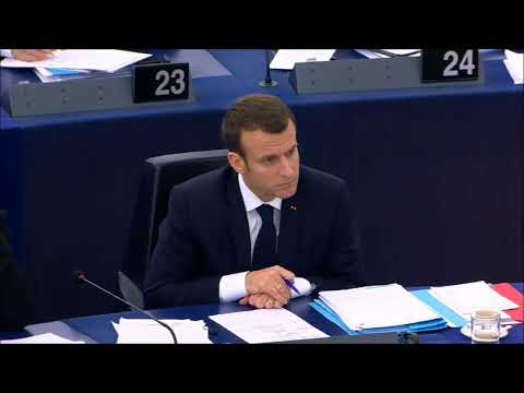 Manfred Weber`s speech during the plenary debate with Emmanuel Macron, 17.4.18