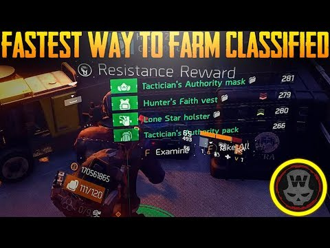 BEST way to farm Classified! Resistance Farm Guide (The Division 1.8)
