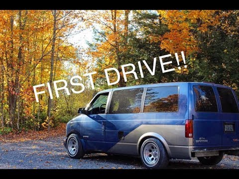 Race Van Chevy Astro First Drive!!!