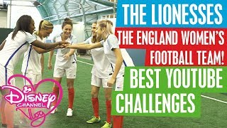 DISNEY CHANNEL VLOG feat THE LIONESSES – THE  ENGLAND WOMEN'S FOOTBALL TEAM! | YOUTUBE CHALLENGES