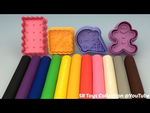 Fun Play and Learn Colours with Play Dough Modelling Clay for Children