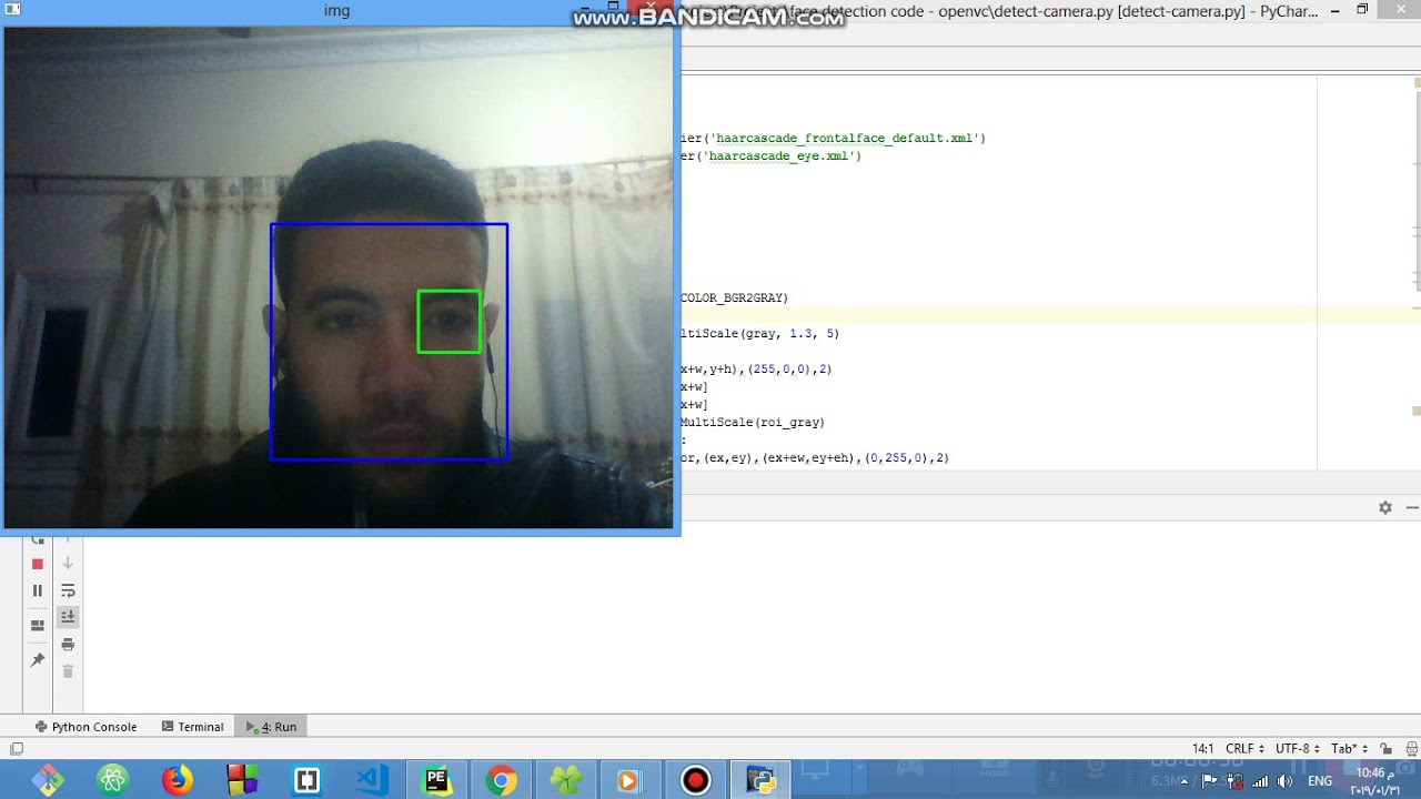 How to detect your face through image or video camera in python