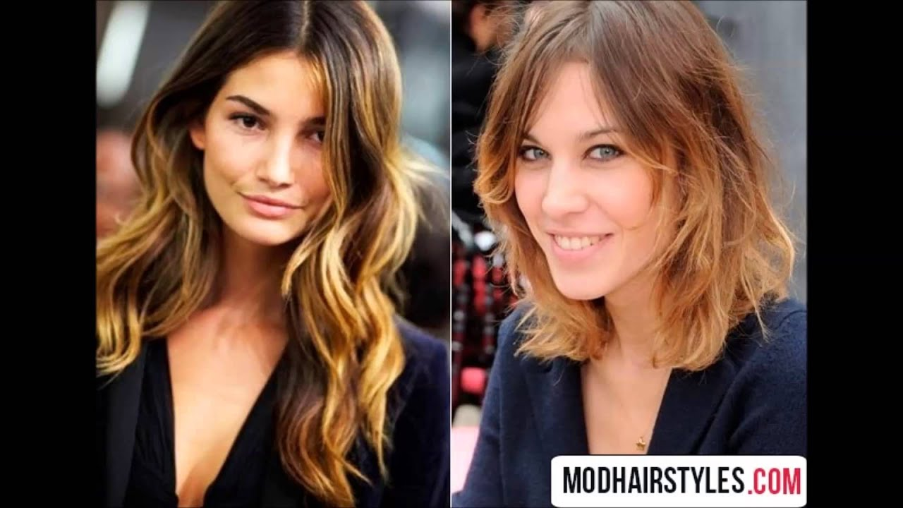 Brown To Pastel Blue Ombre Hairstyles For Fall Winter 2016 2017