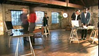 stock footage time lapse of small creative business and team working in casual chic downtown loft of