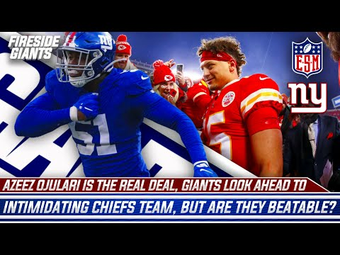 Azeez Ojulari is the REAL Deal   Daniel Jones Kicks Ass   Giants Playing Chiefs, are they Beatable?