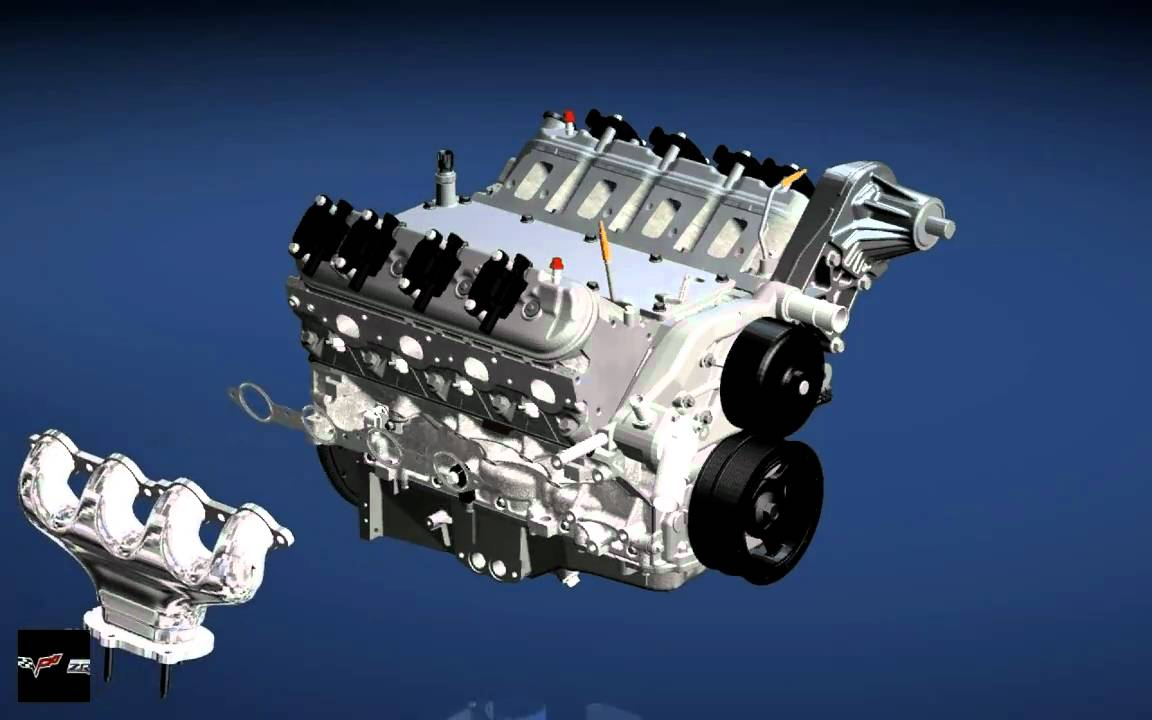 Gm Zr1 Corvette V8 Engine Assembly Ls9 And Car Youtube