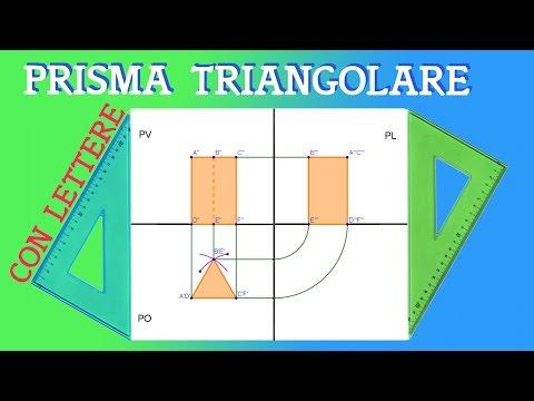Proiezione Ortogonale di un Prisma a Base Triangolare