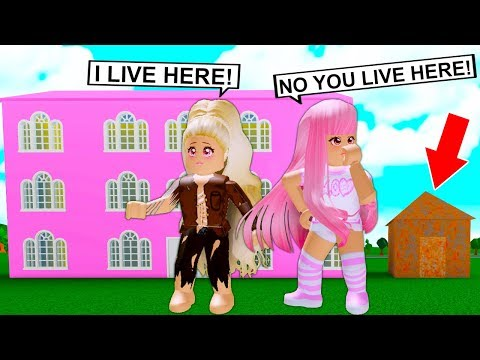 She Pretended To Have A Mansion But Was Secretly Homeless! (Roblox)