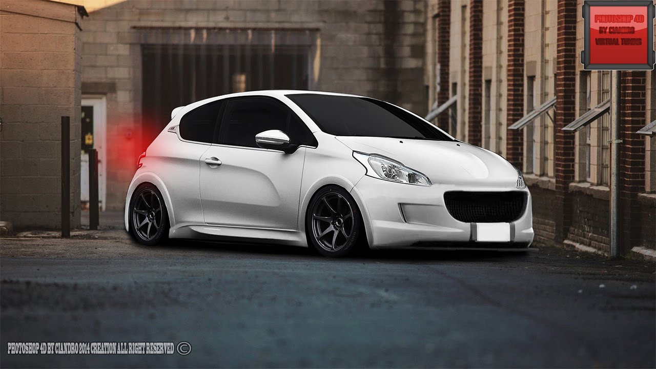 peugeot 208 gti virtual tuning cs6 youtube. Black Bedroom Furniture Sets. Home Design Ideas