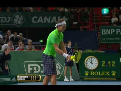 Rafa Nadal vs. Tommy Robredo 6-3, 3-6 y 7-5 en 2 horas y 21 minutos