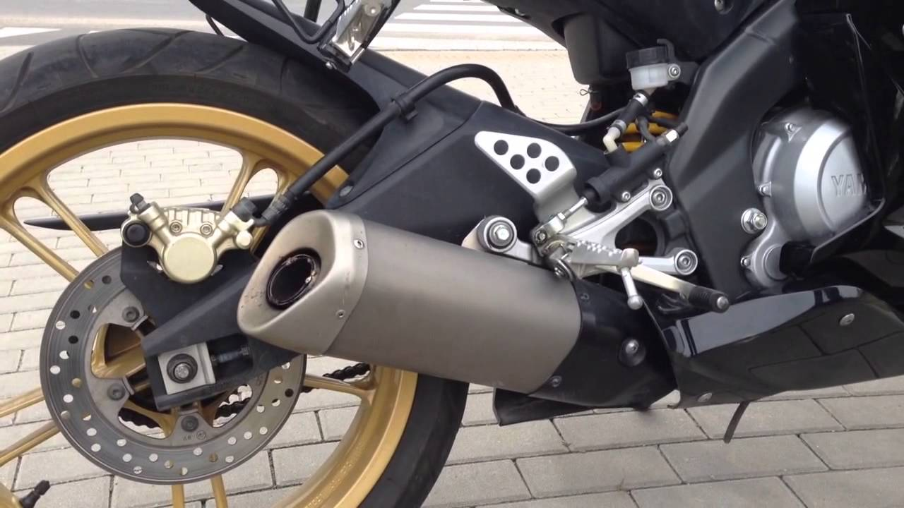 yamaha yzf r125 r6 exhaust sound youtube. Black Bedroom Furniture Sets. Home Design Ideas