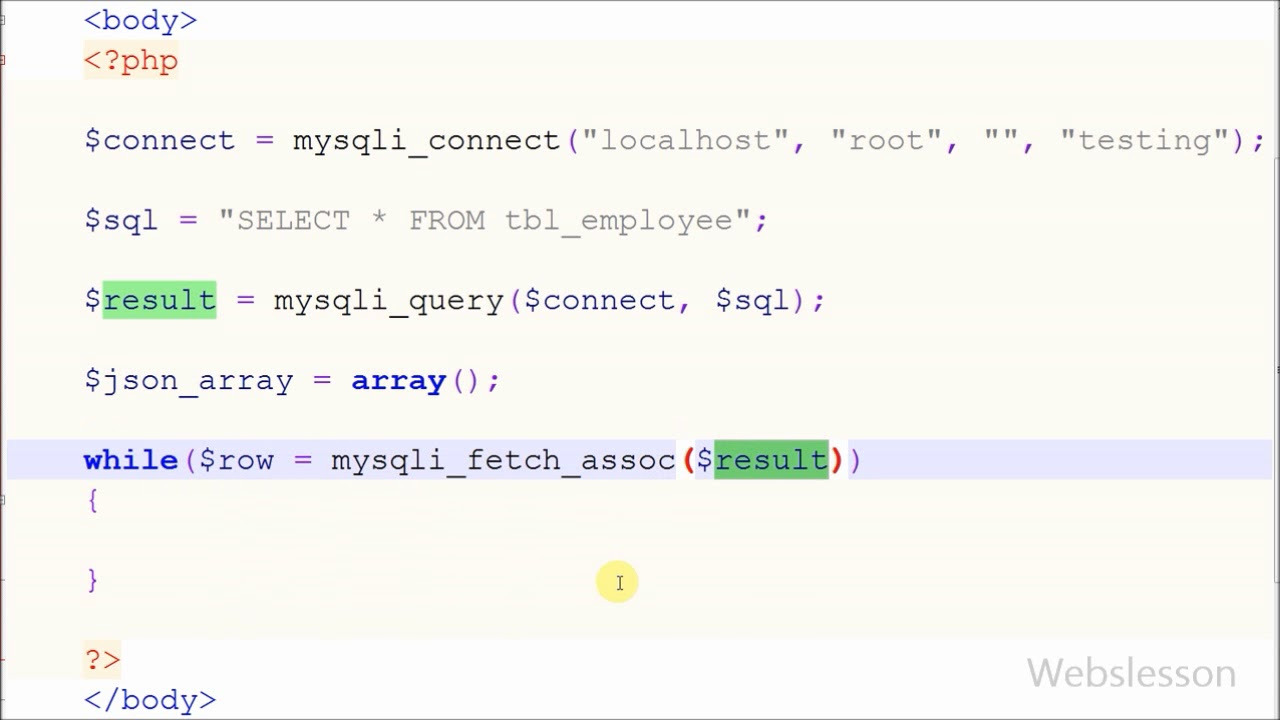 Convert Data from Mysql to JSON Formate using PHP