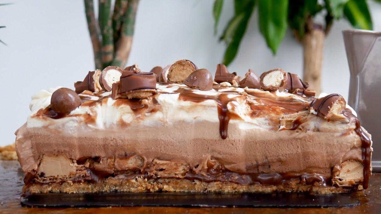 Ricetta Cheesecake Nutella E Kinder Bueno.Ferrero Kinder Bueno Nutella Cheesecake No Bake Treat Factory Youtube