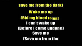 EVANESCENCE - BRING ME TO LIFE (KARAOKE LYRICS PRO)