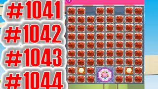 Candy Crush Saga Level 1041, 1042, 1043, 1044 And 1045 NEW | Complete!