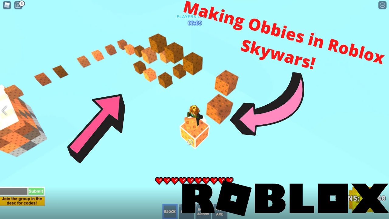 Making an OBBY and Trolling People! | Roblox Skywars
