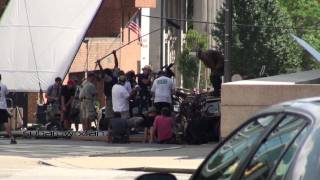 Bane Standing on Tumbler! (Filming The Dark Knight Rises)