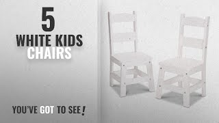 Top 10 White Kids Chairs [2018]: Melissa & Doug Wooden Chair Pair - White Children's Furniture