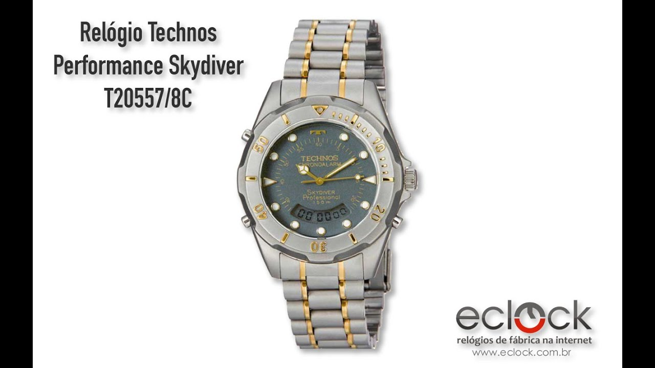 Relógio Technos Masculino Skydiver T205601p My Time aa40bf6416
