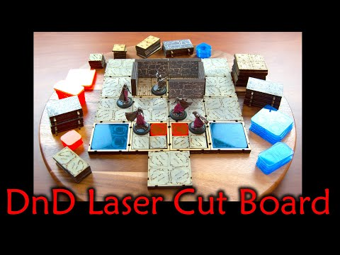 How to Design and Laser Cut a Modular Board for Dungeons and Dragons