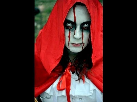 How to create a Horror Halloween look Makeup Red Riding Hood ...