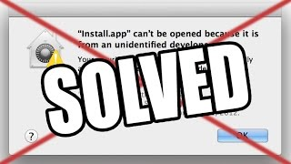 OPEN UNIDENTIFIED DEVELOPER APPS WITHOUT ADMIN PASSWORD ON MAC! WORKS!
